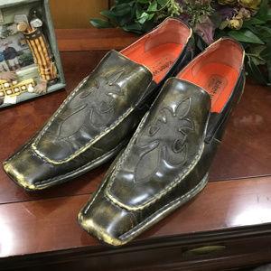 Robert Wayne Motley Steampunk Loafer Fleur de Lis